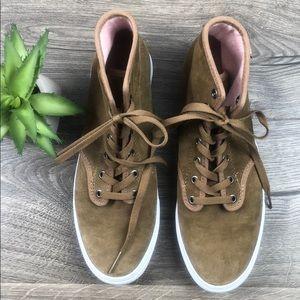 Vans High Tops Tan Leather Suede
